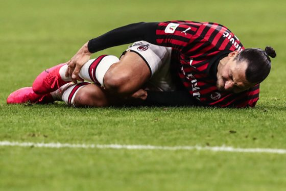 Lutut Zlatan Ibrahimovic
